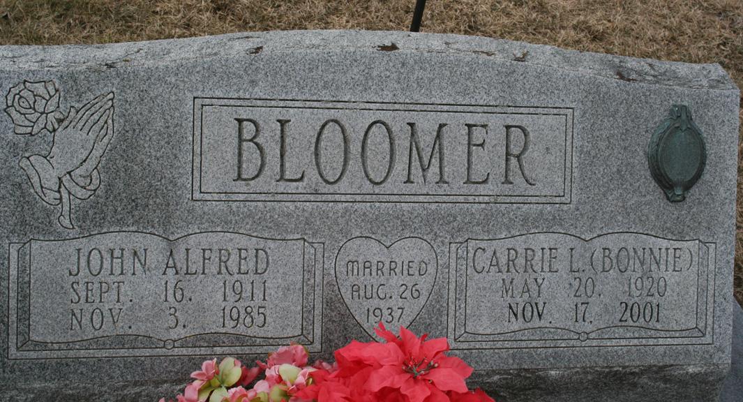 Carrie L. <i>Sheffer</i> Bloomer