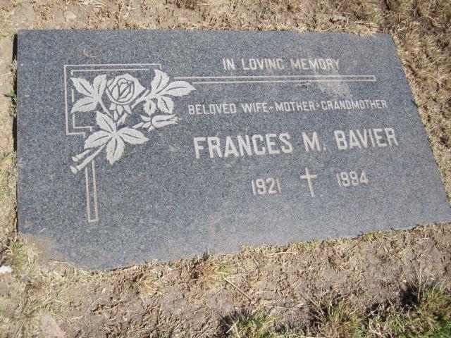 Frances Mae <i>Boone</i> Bavier