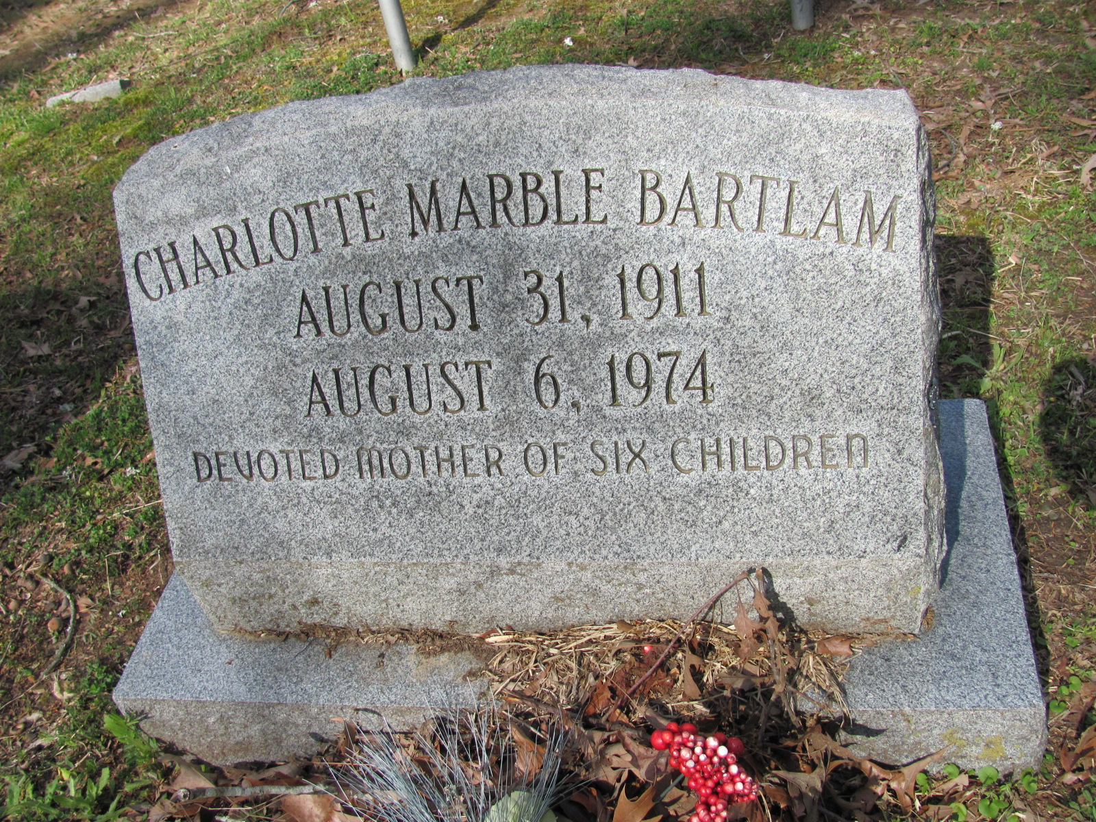 Charlotte <i>Marble</i> Bartlam