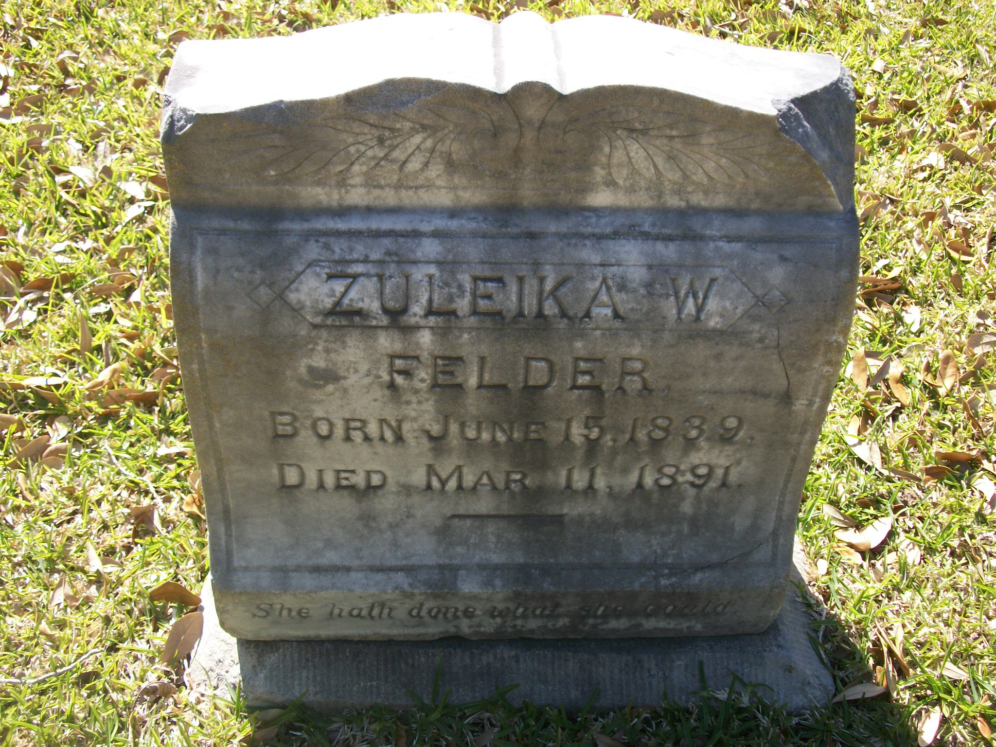 Zuleika W Felder