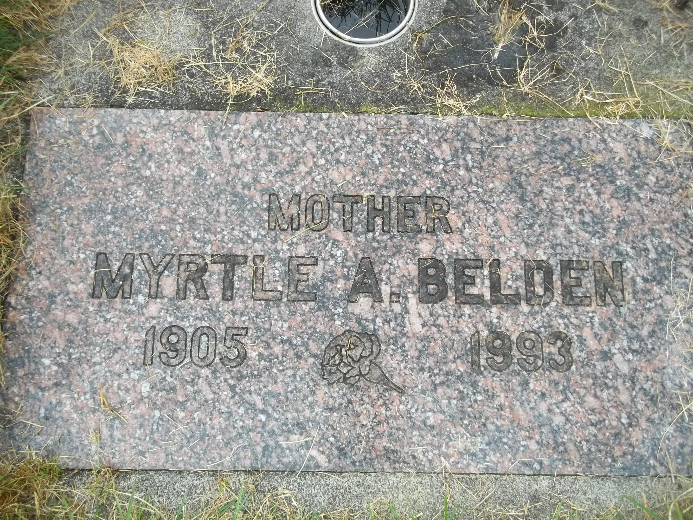 Myrtle A <i>Bjork</i> Belden