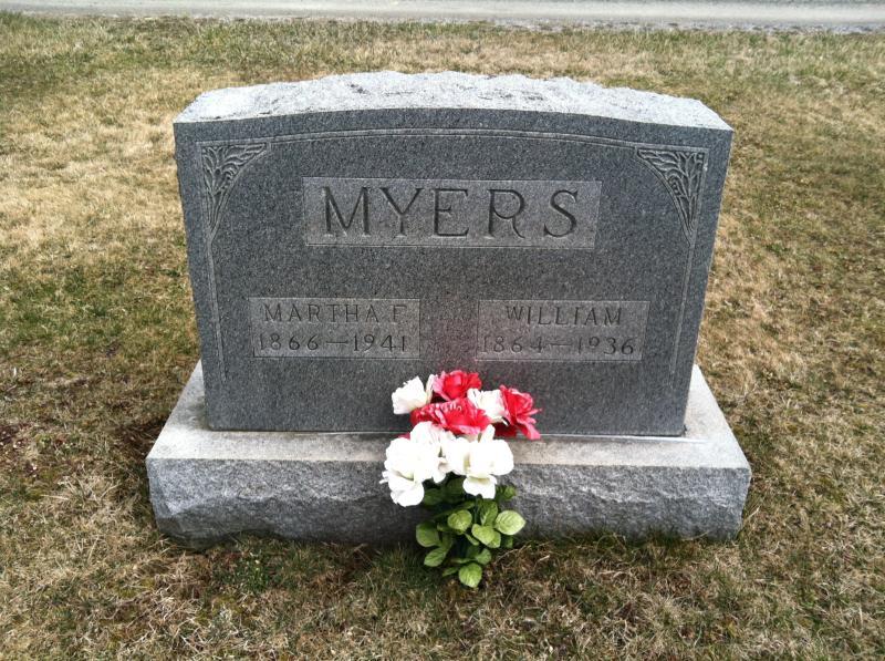 Martha F. <i>Weekley</i> Myers