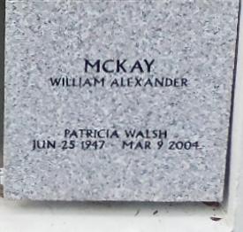 Patricia Patsy <i>Walsh</i> McKay