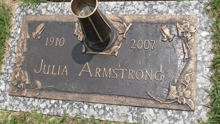 Julia Belle <i>Wooten</i> Armstrong