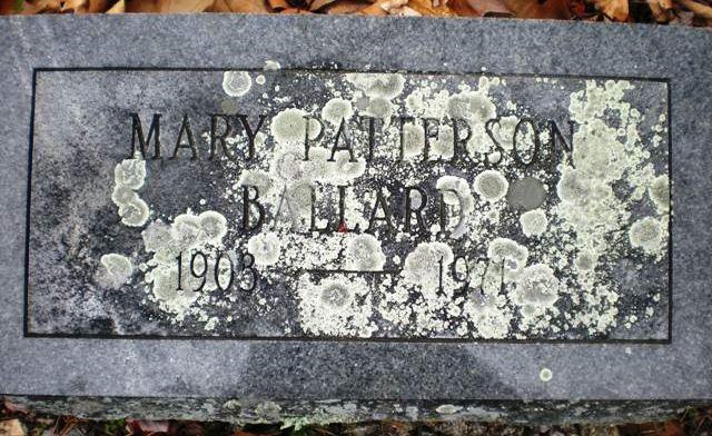 Mary <i>Patterson</i> Ballard