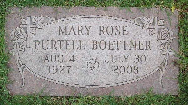 Mary Rose <i>Purtell</i> Boettner
