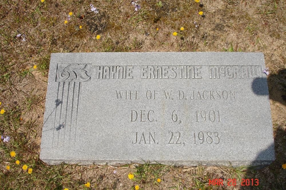 Haynie Ernestine <i>McGraw</i> Jackson