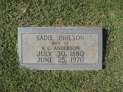 Sadie Elizabeth <i>Philson</i> Anderson