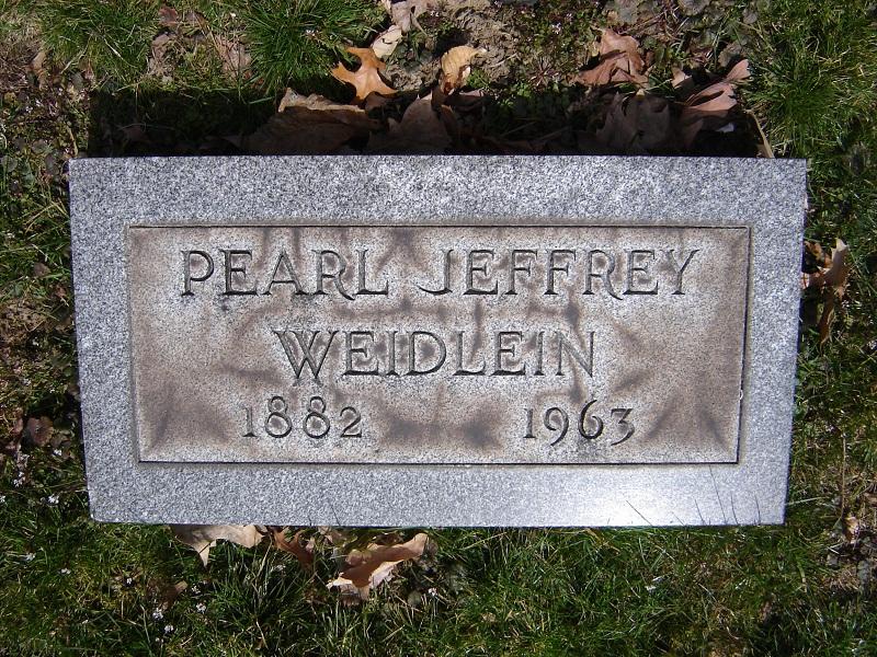 Anna Pearl <i>Jeffrey</i> Weidlein