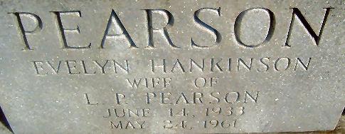 Evelyn <i>Hankinson</i> Pearson
