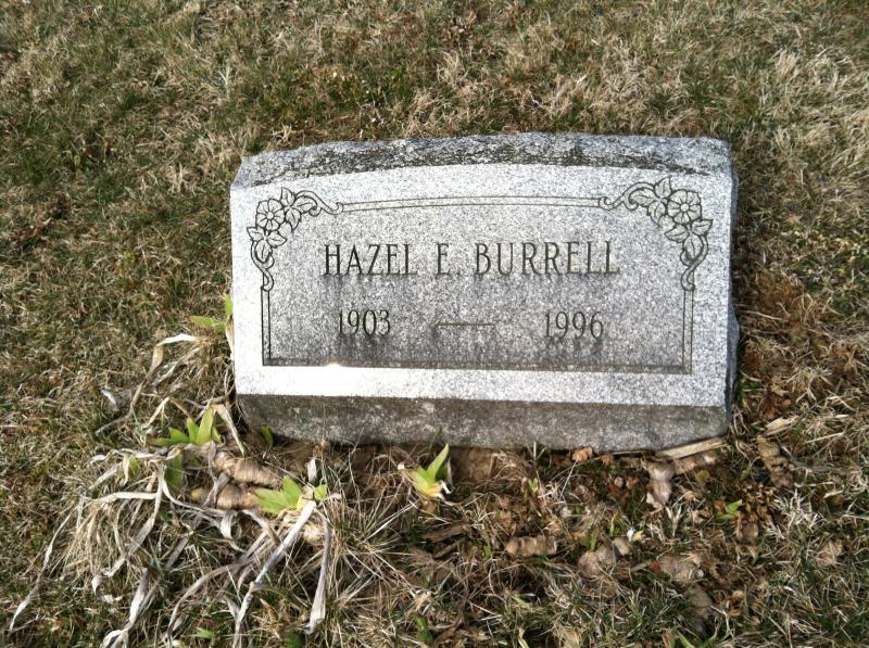 Hazel F Burrell