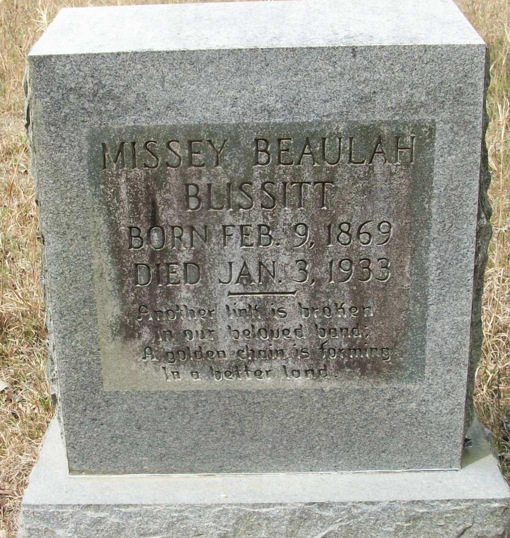 Missey Beulah Blissitt