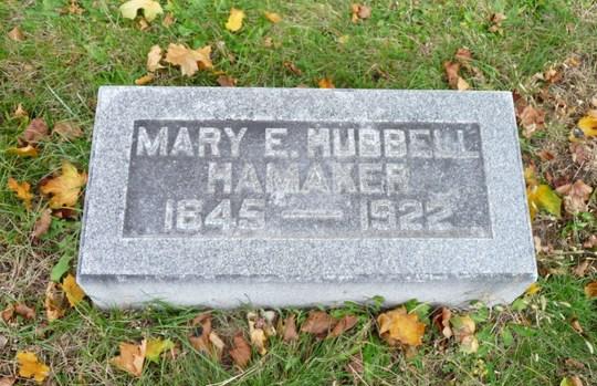 Mary E <i>Hubbell</i> Hamaker
