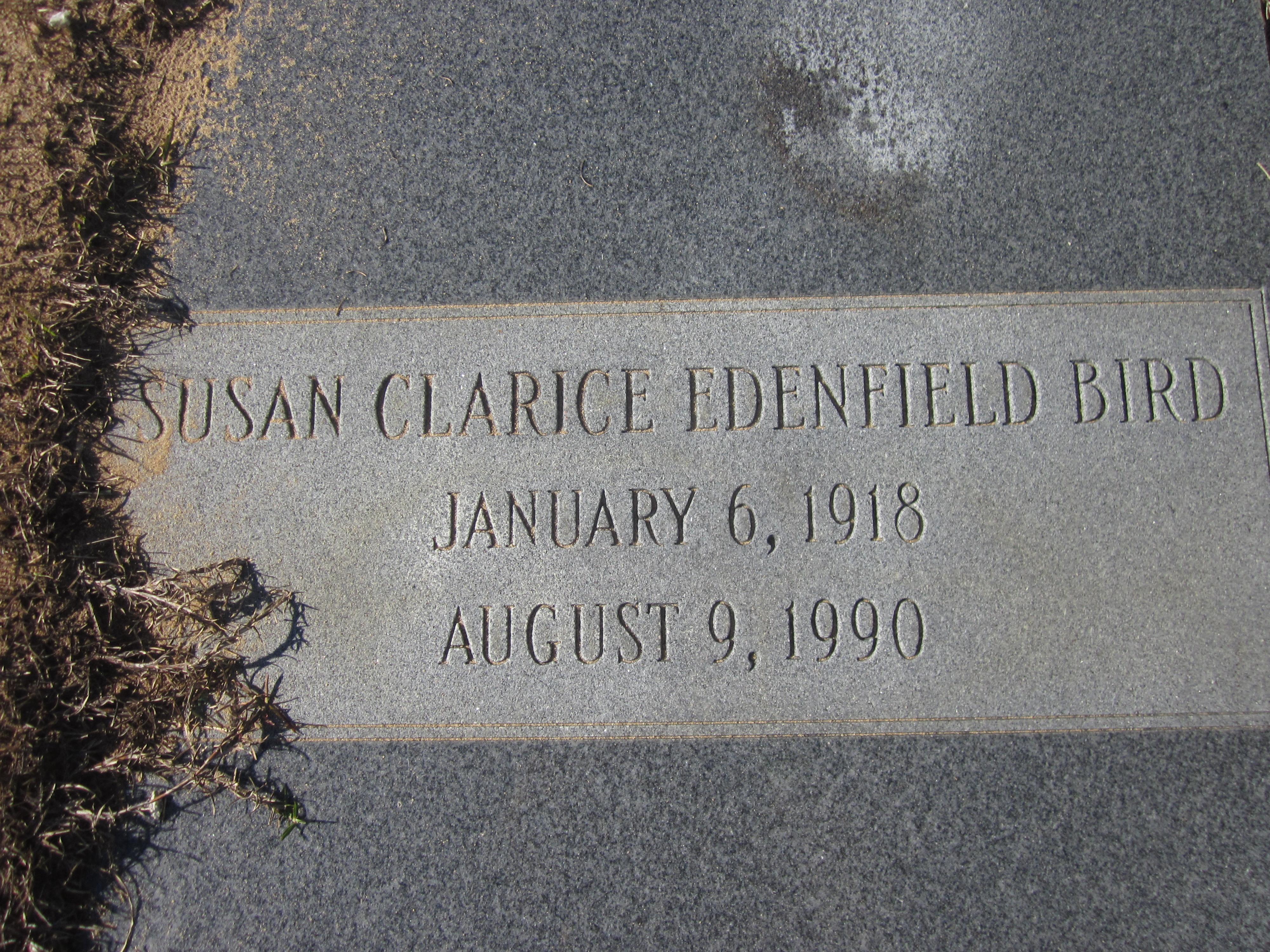 Susan Clarice <i>Edenfield</i> Bird