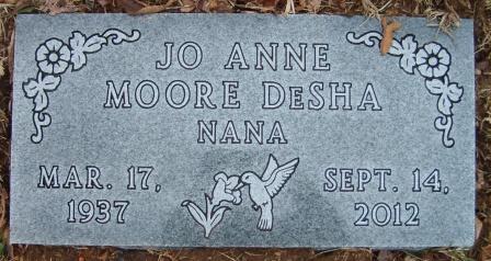 JoAnne Nana <i>Moore</i> DeSha