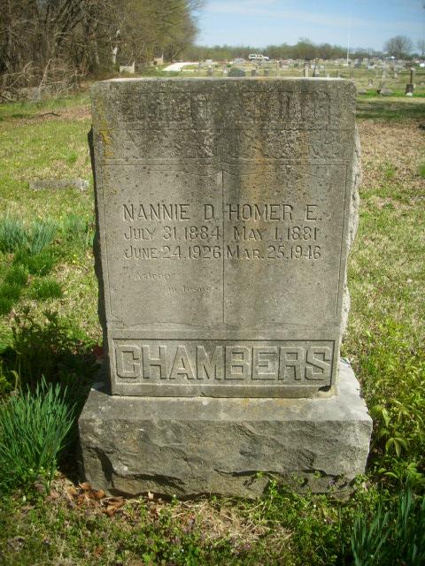 Nannie D <i>Hitt</i> Chambers