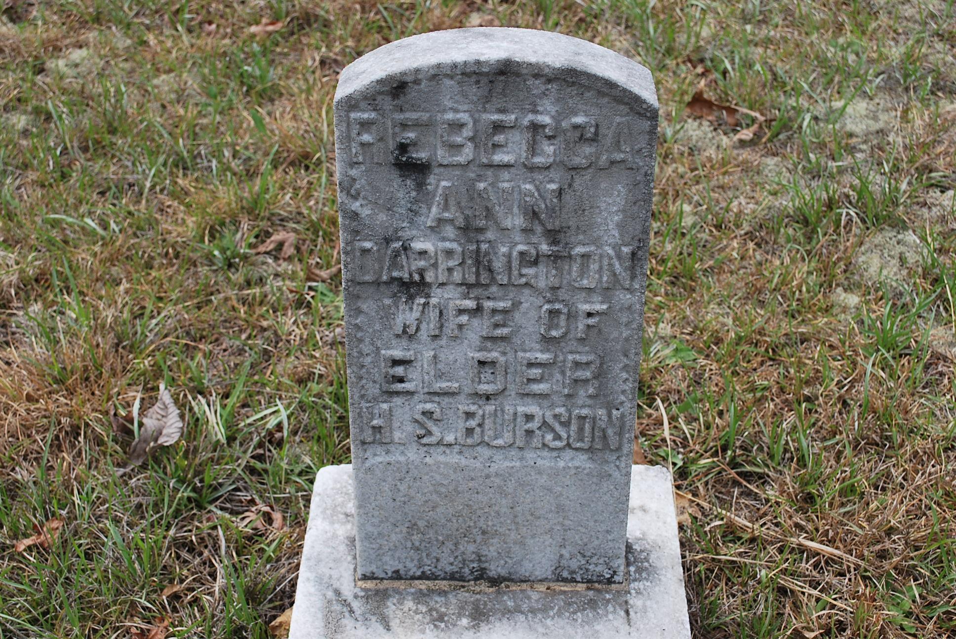 Rebecca Ann <i>Darrington</i> Burson
