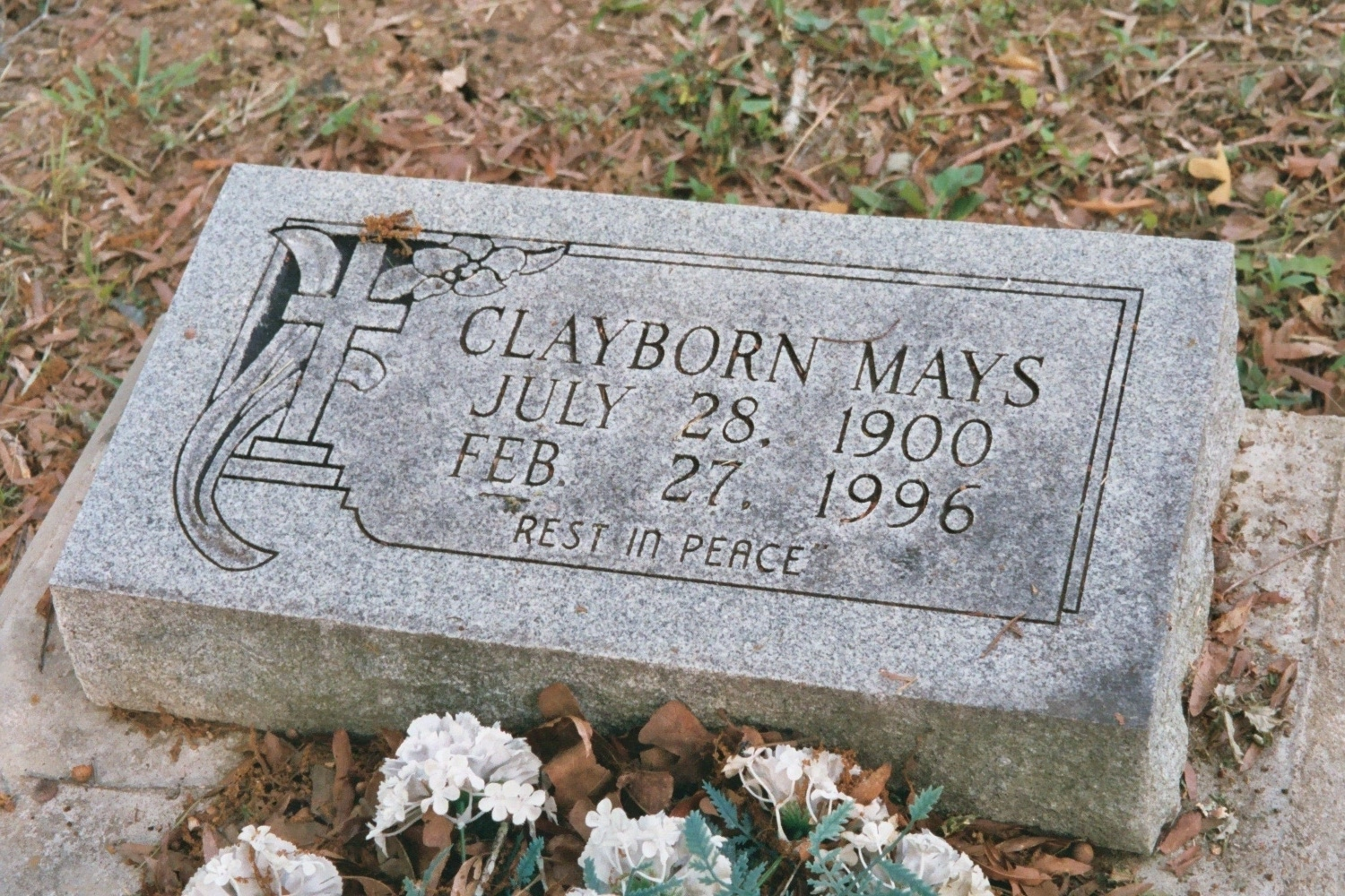 Clayborn mays 1900 1996 find a grave memorial