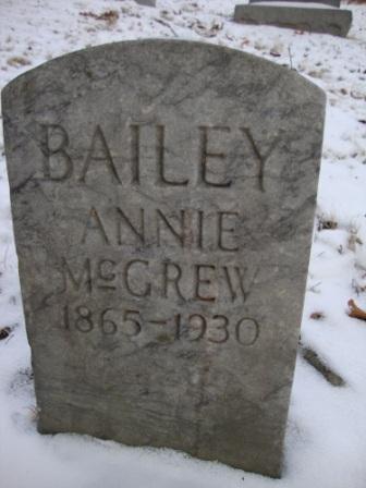 Annie <i>McGrew</i> Bailey