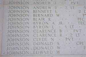 2Lt Clarence R Johnson