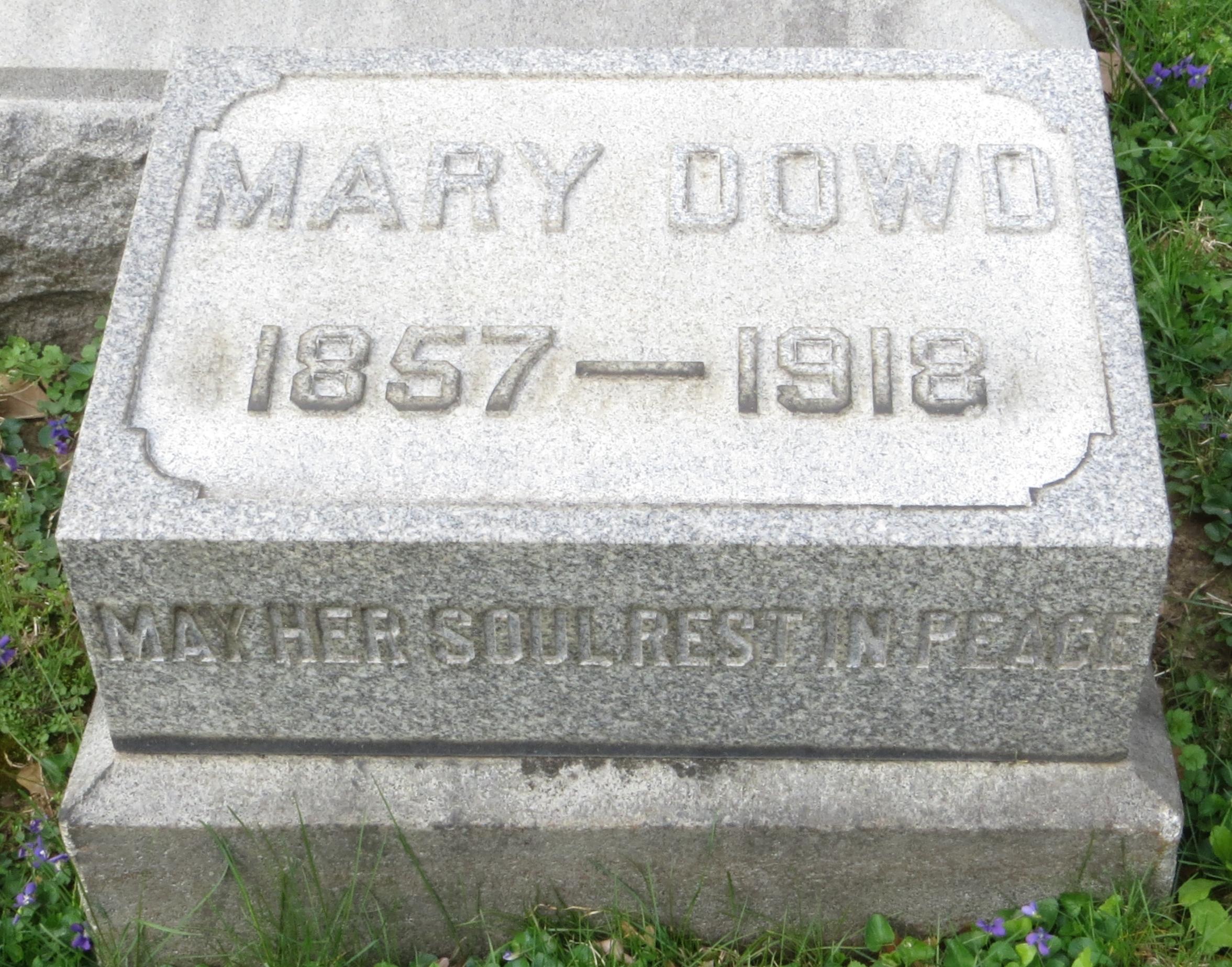 Mary D. <i>Morgan</i> Dowd
