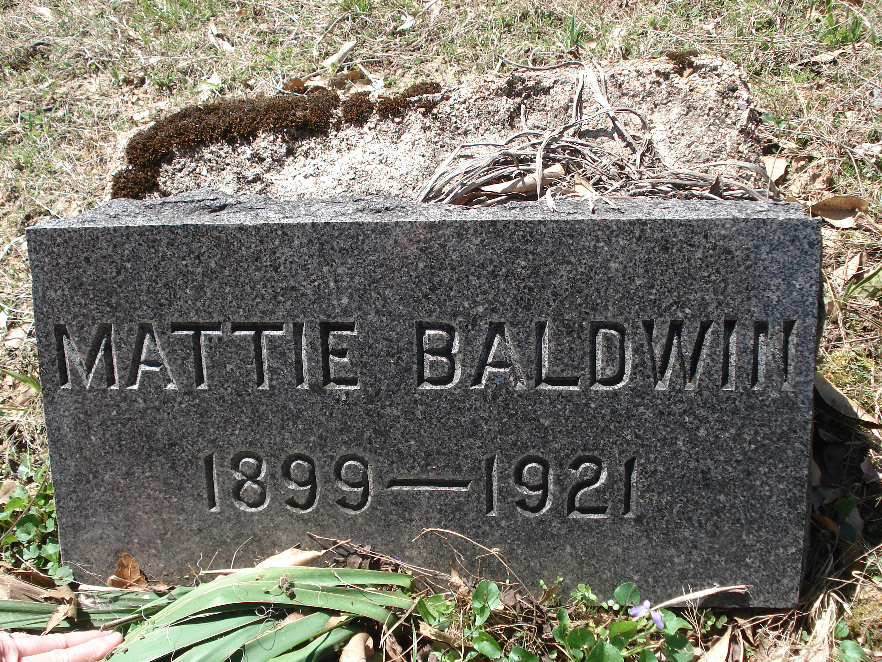 Mattye Mae Mattie <i>Williamson</i> Baldwin