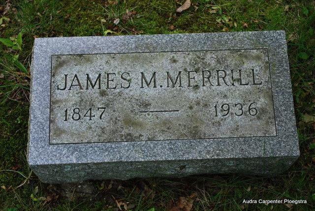 JM Merrill grave marker