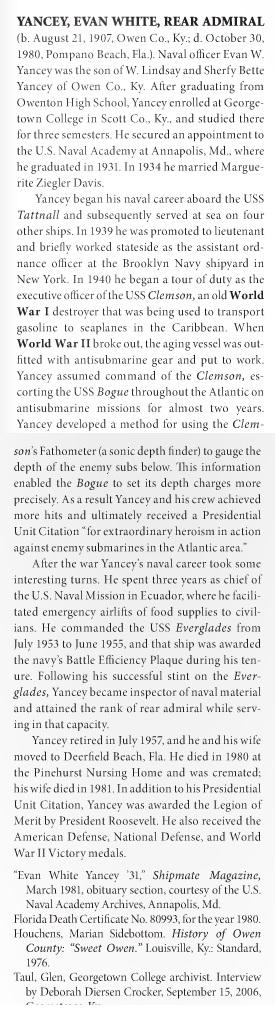 Evan White Yancey
