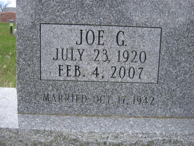 Joe G Berhalter