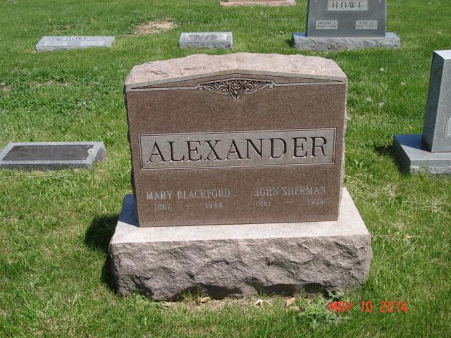 Mary <i>Blackford</i> Alexander