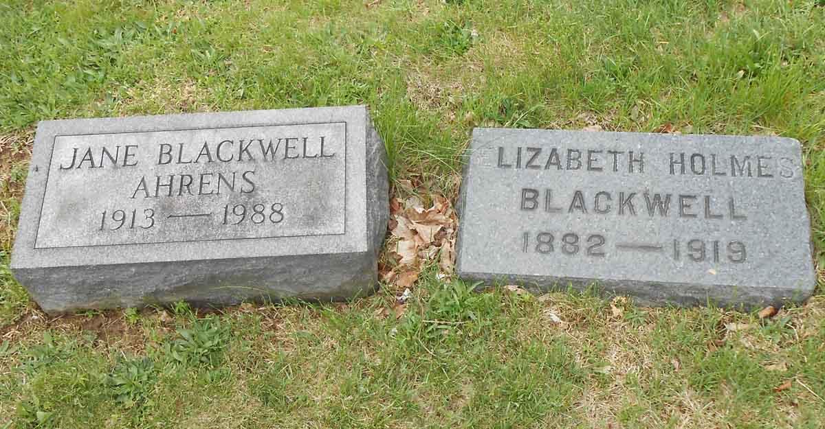 Jane Holmes <i>Blackwell</i> Ahrens
