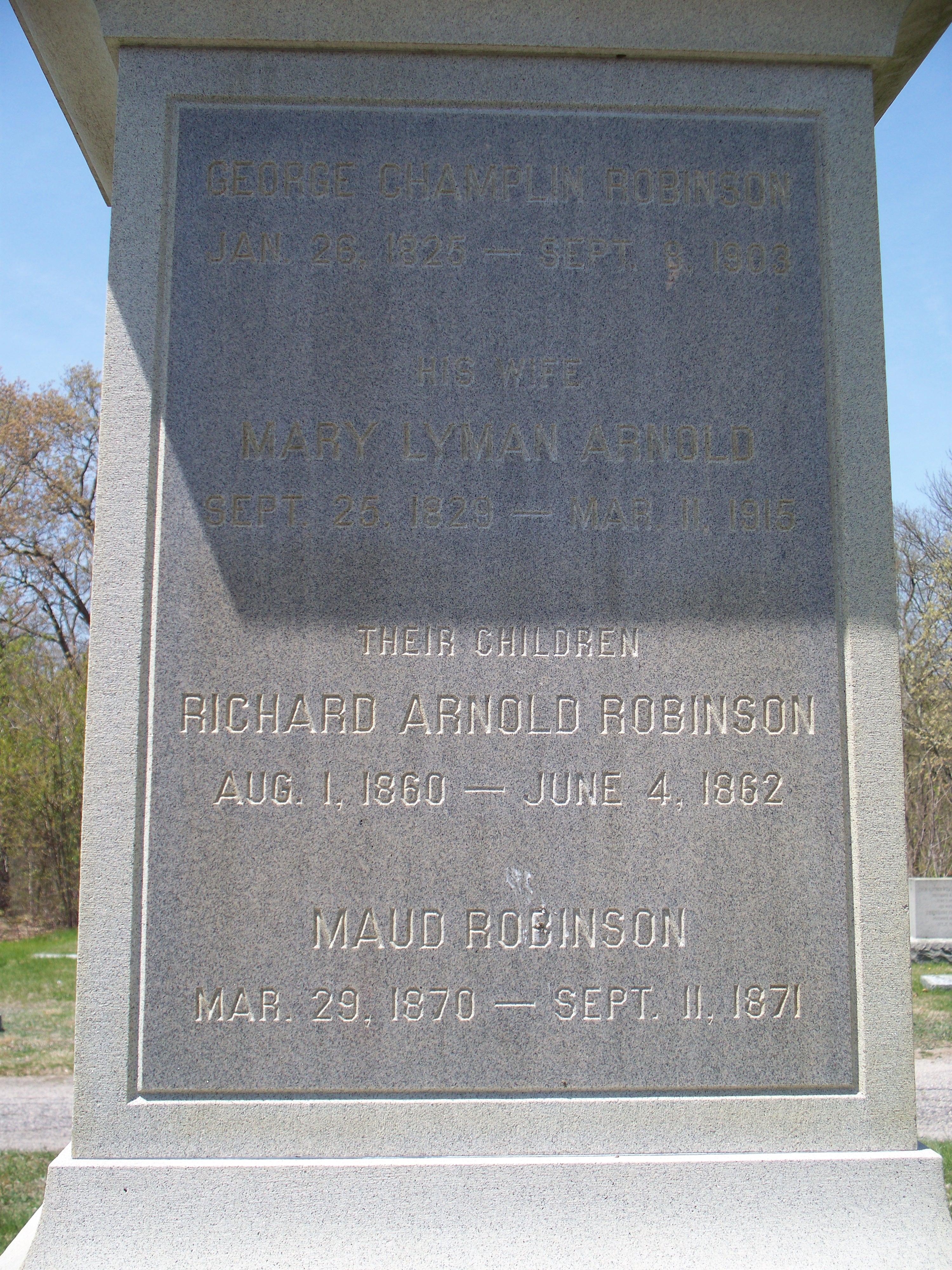 Mary Lyman <i>Arnold</i> Robinson