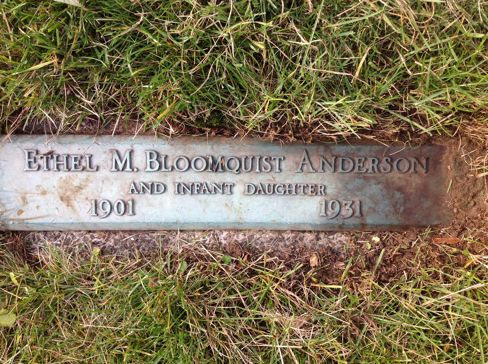 Ethel May <i>Bloomquist</i> Anderson