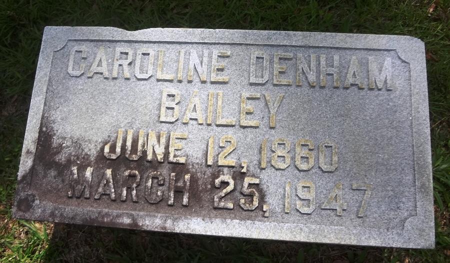 Caroline Ellen <i>Denham</i> Bailey