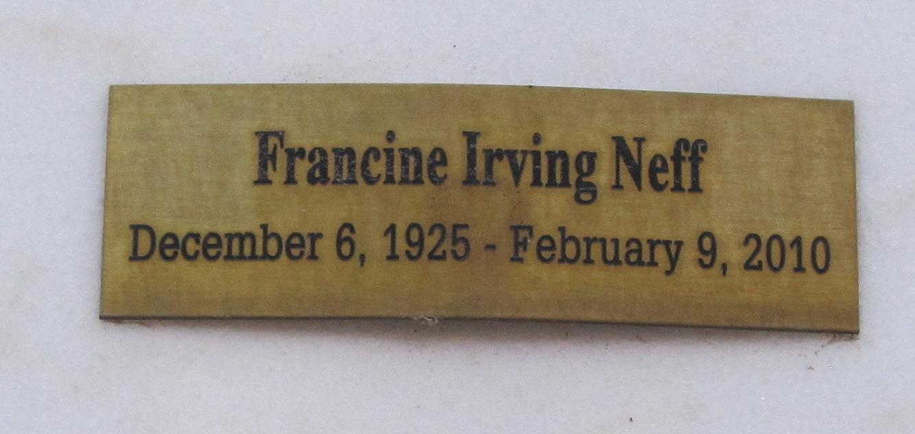 Francine <i>Irving</i> Neff
