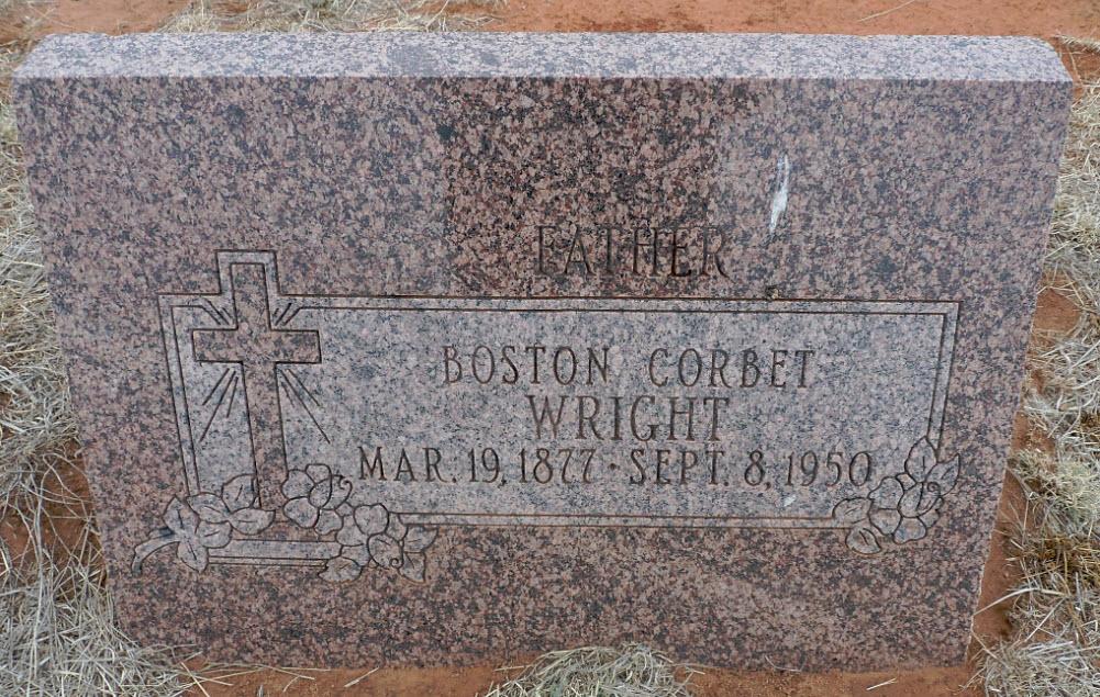 Boston Corbet Wright