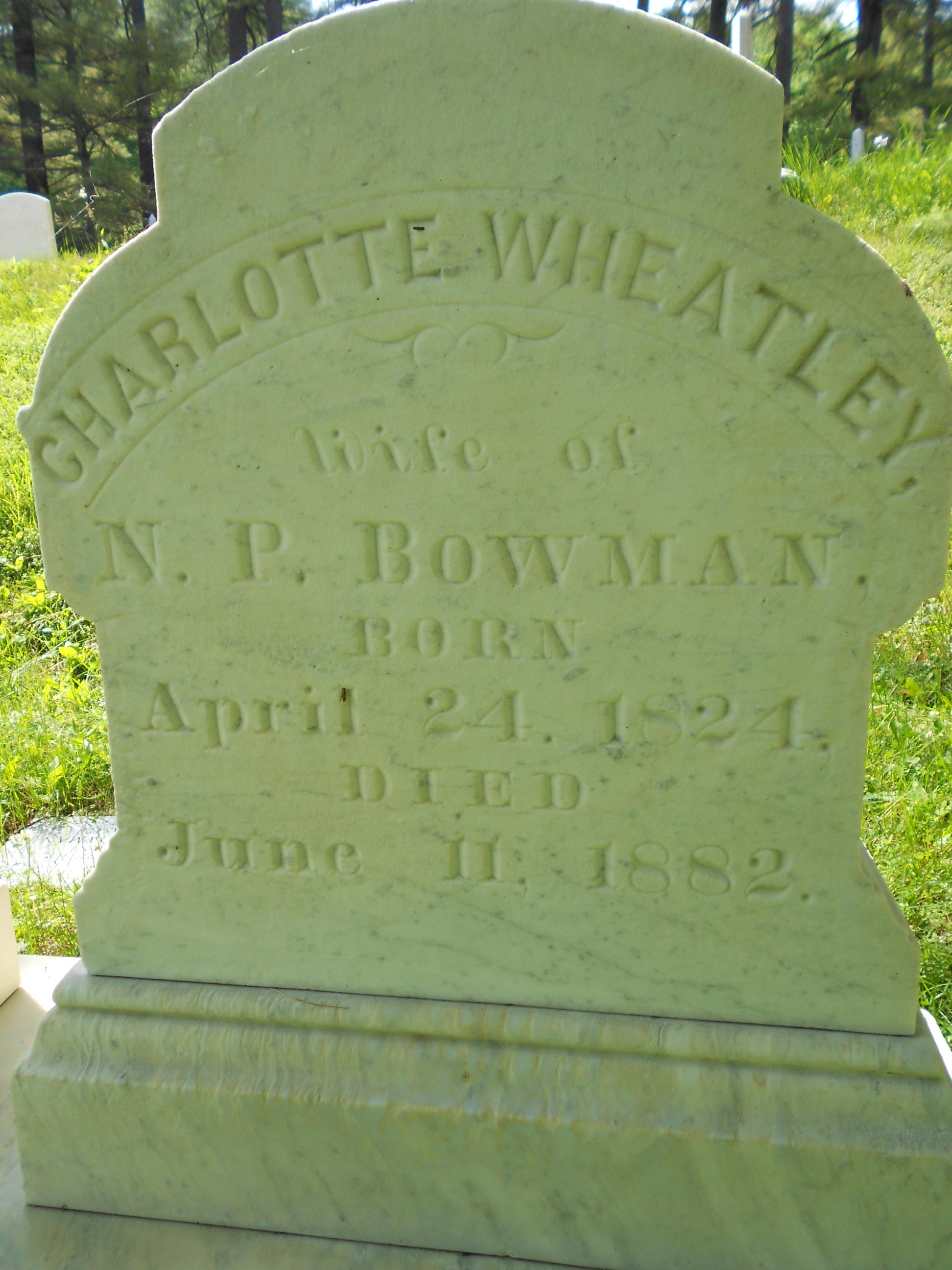 Charlotte <i>Wheatley</i> Bowman