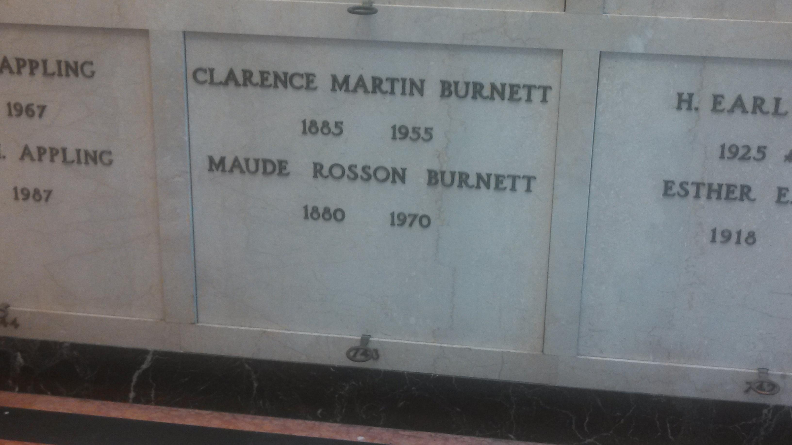 Clarence Martin Burnett