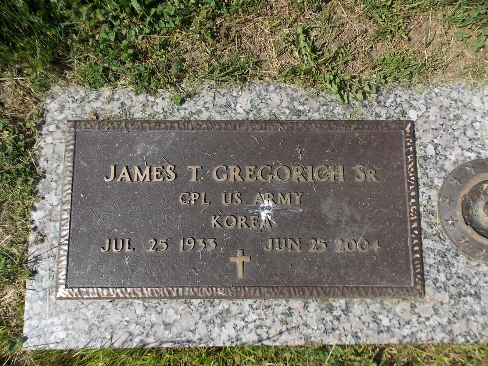 James Thomas Gregorich, Sr