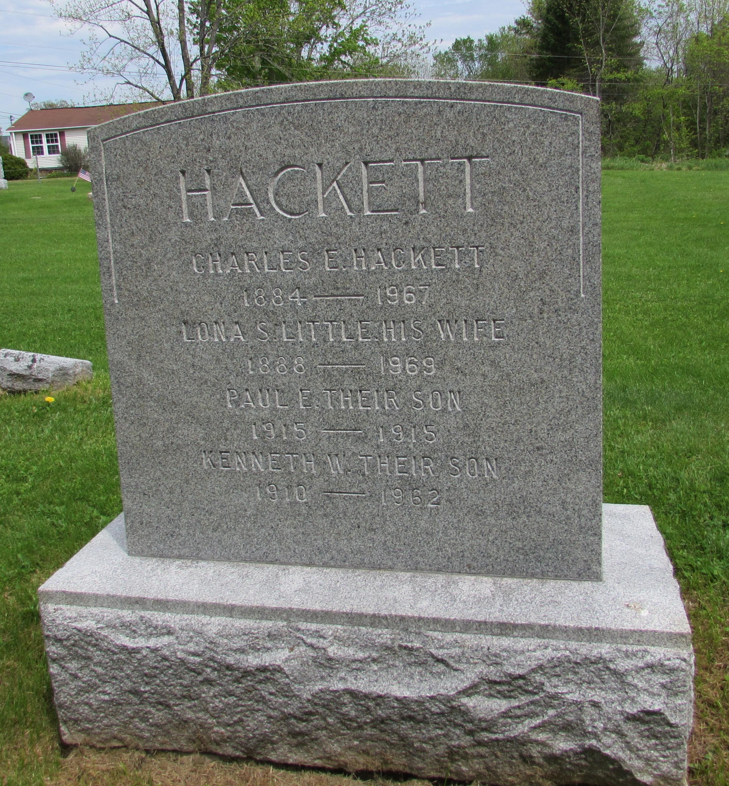 Lona S <i>Little</i> Hackett