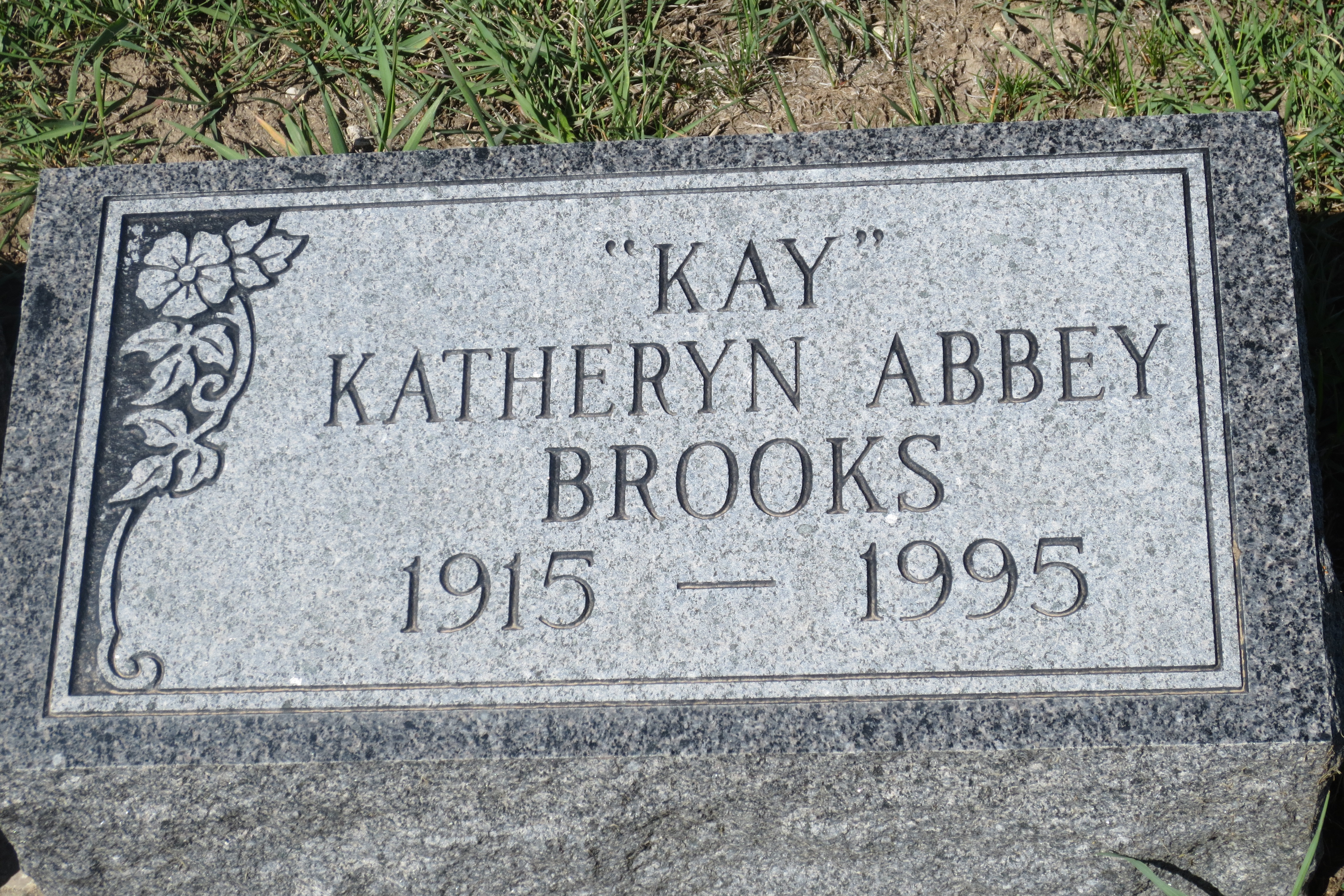 "katheryn may ""kay"" abbey brooks (1915-1995) - find a grave memorial"