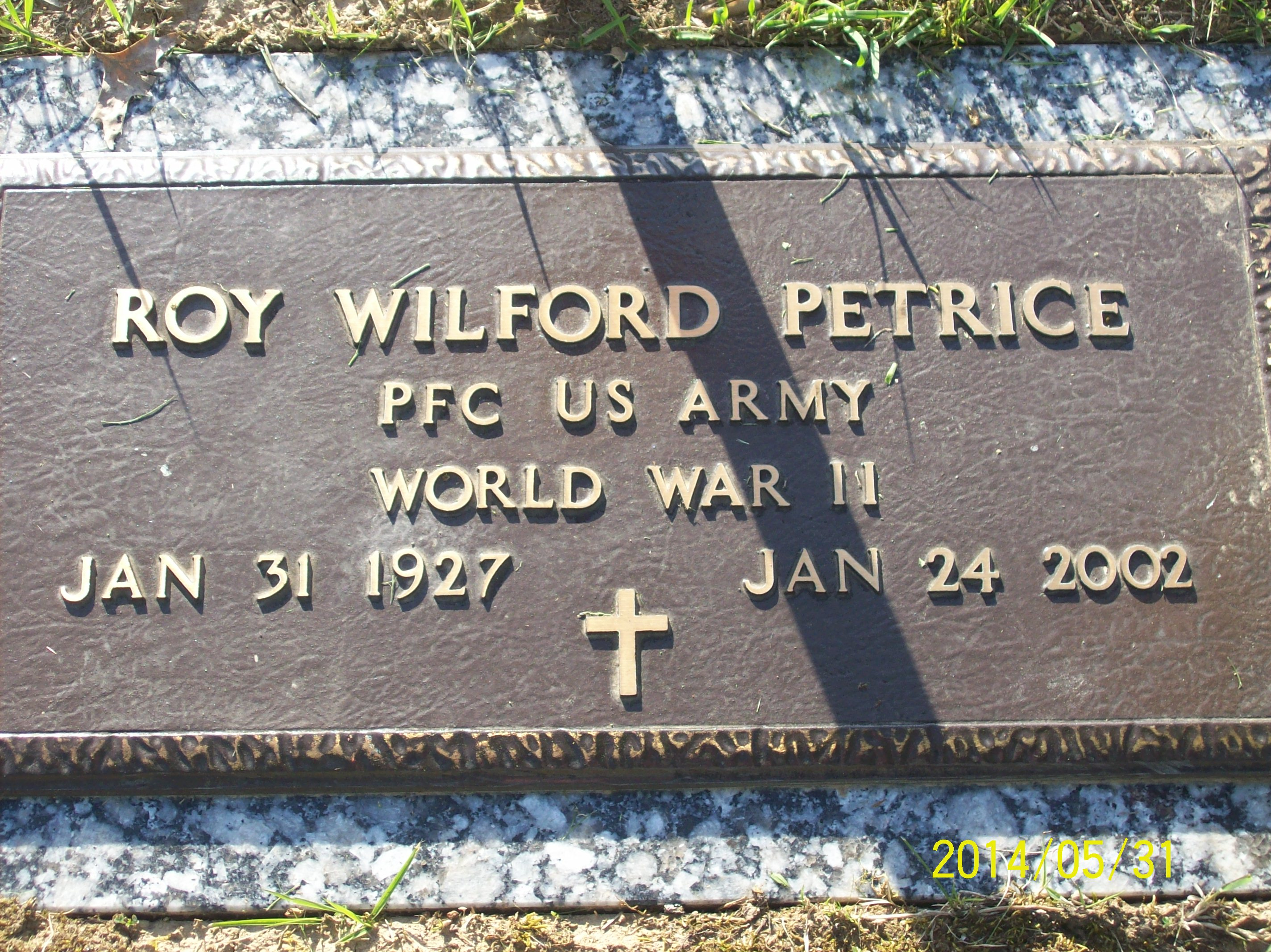 Roy Wilford Jack Petrice Find A Grave Memorial