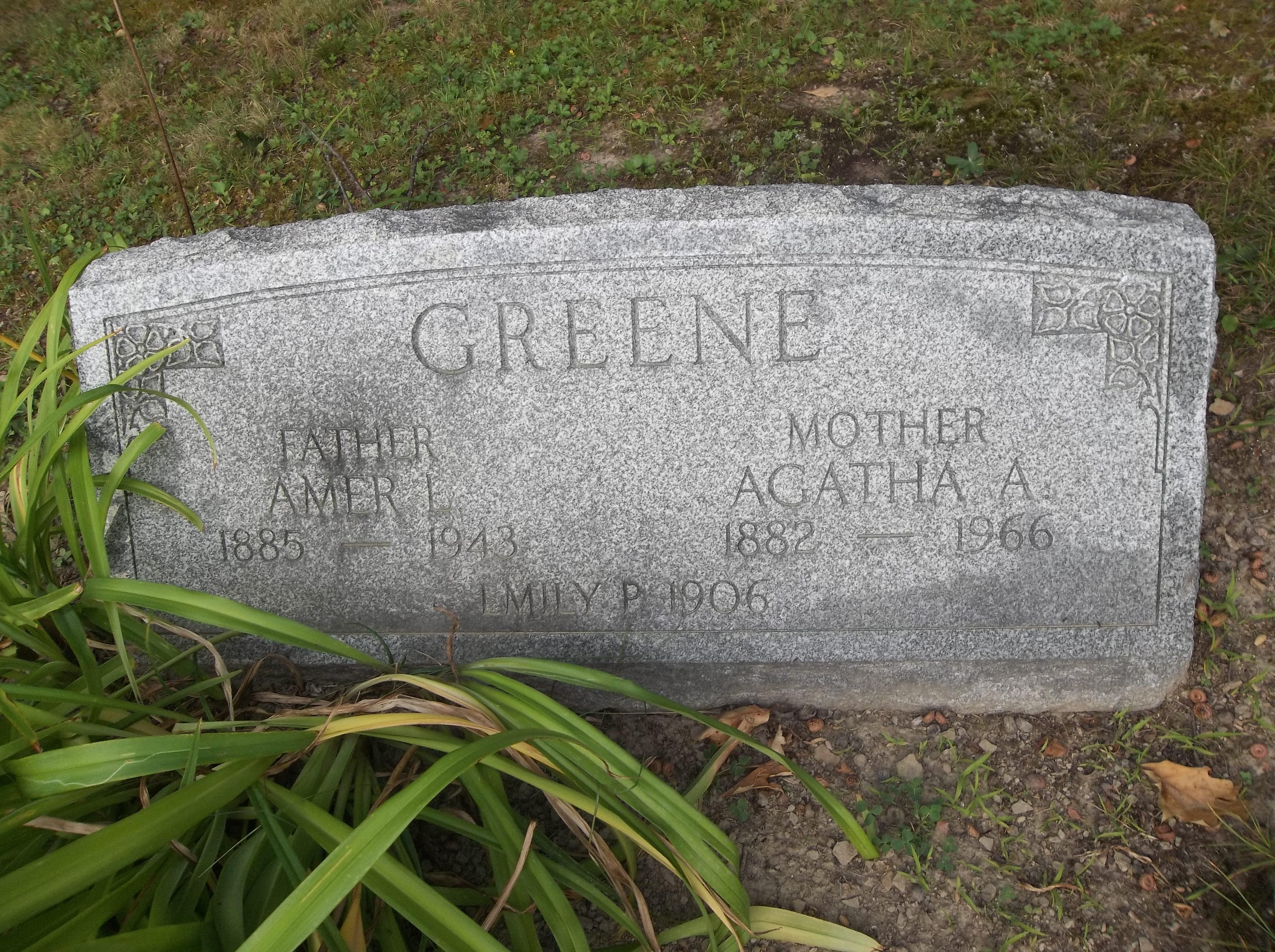 Agatha Alvenia <i>Rothrock</i> Greene