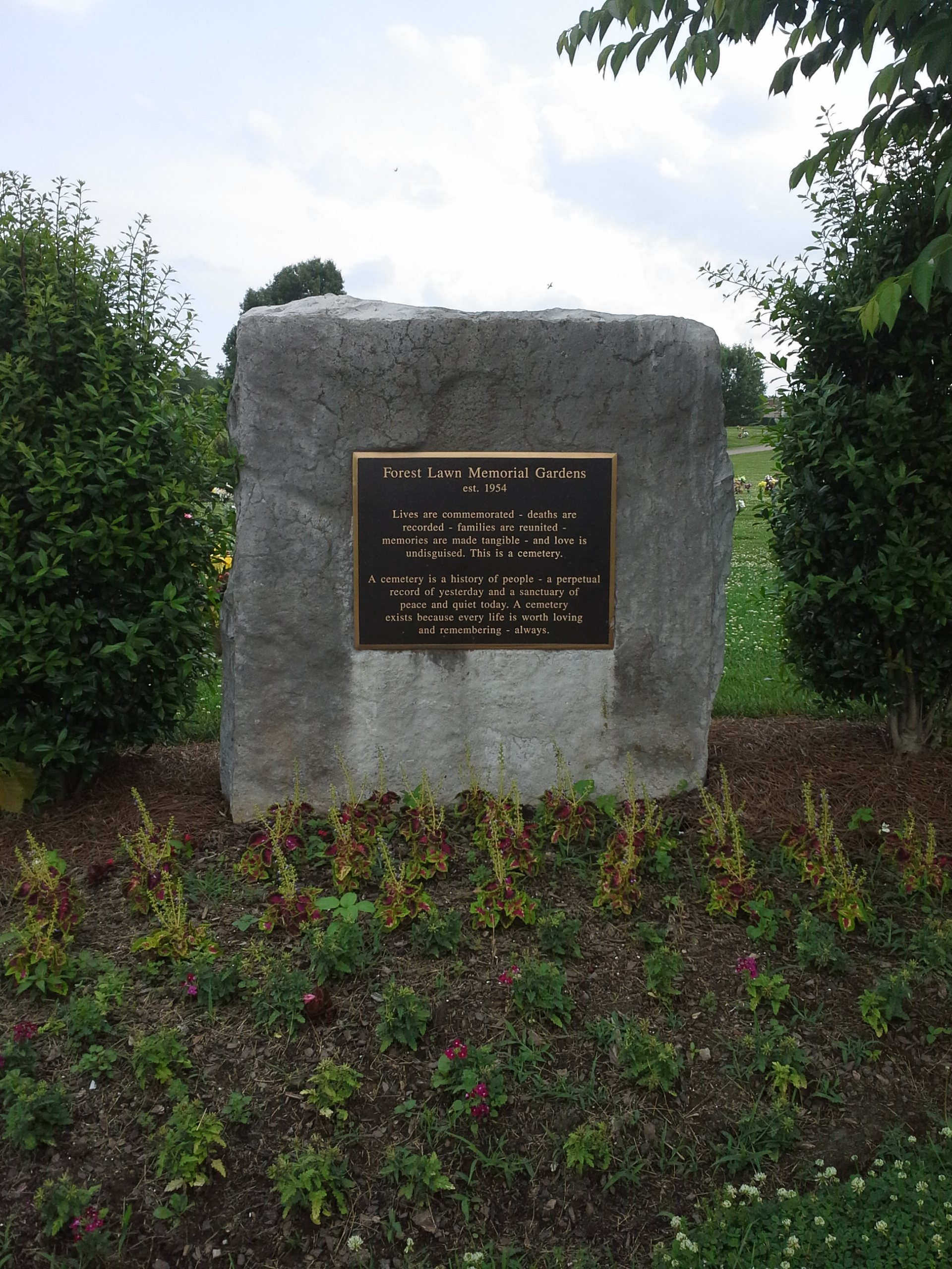 Forest Lawn Memorial Gardens In Goodlettsville Tennessee Find A