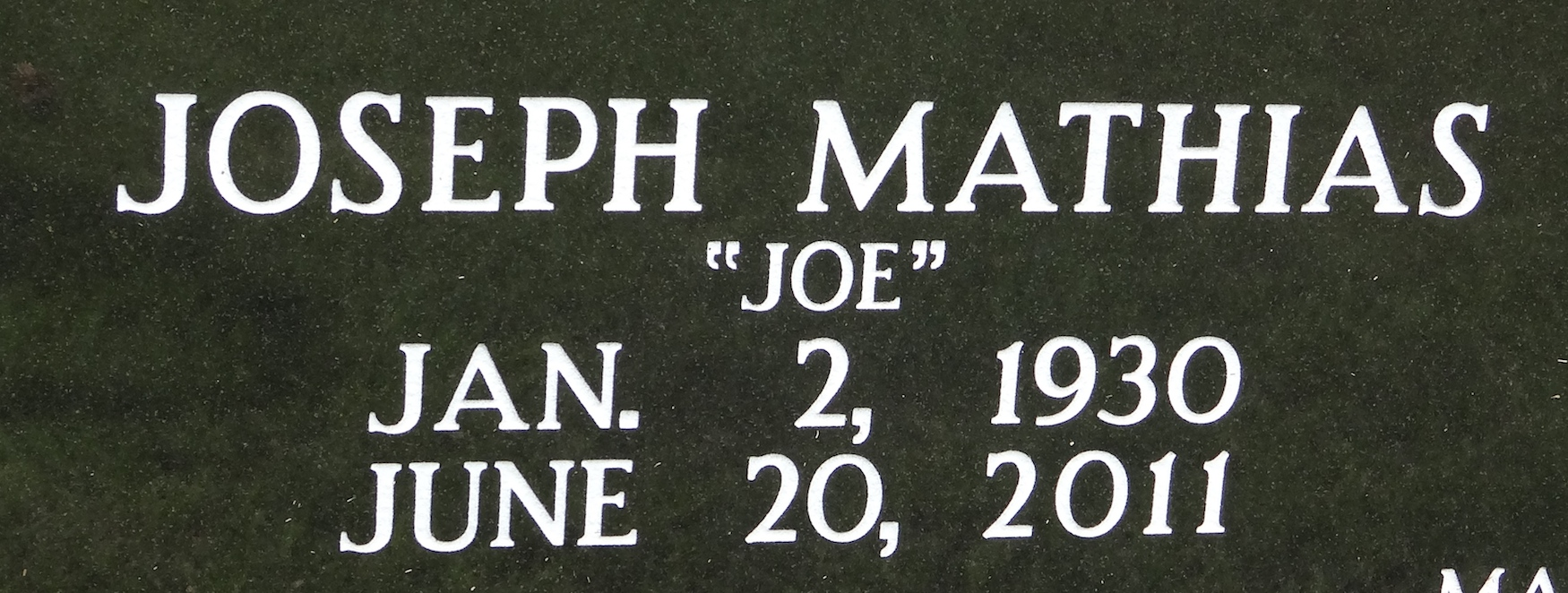 Joseph Mathias Joe Hickel
