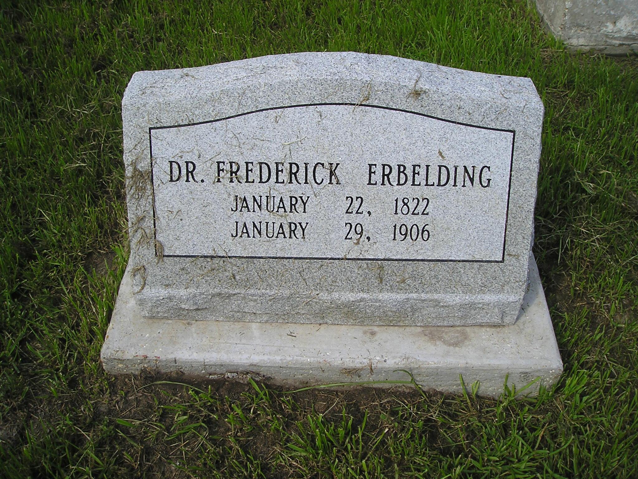 Dr Frederick Erbelding
