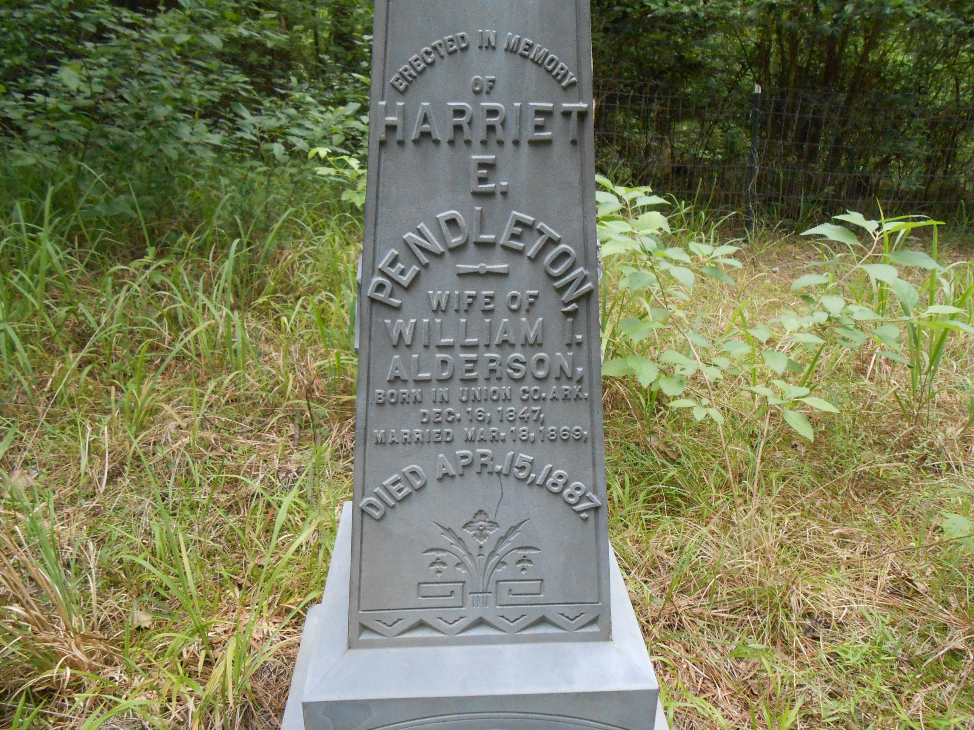 Harriett Ella <i>Pendleton</i> Alderson