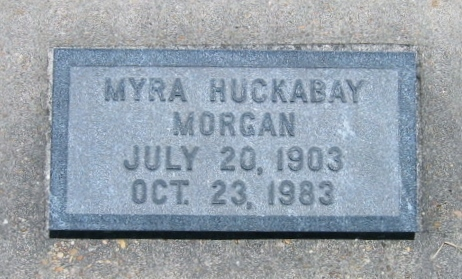 Myra <i>Huckabay</i> Morgan