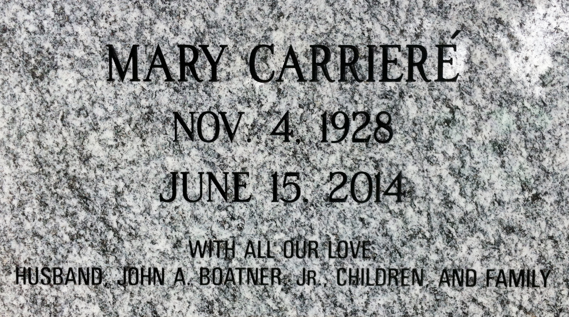 Mary Melina Carriere Boatner Find A Grave Memorial