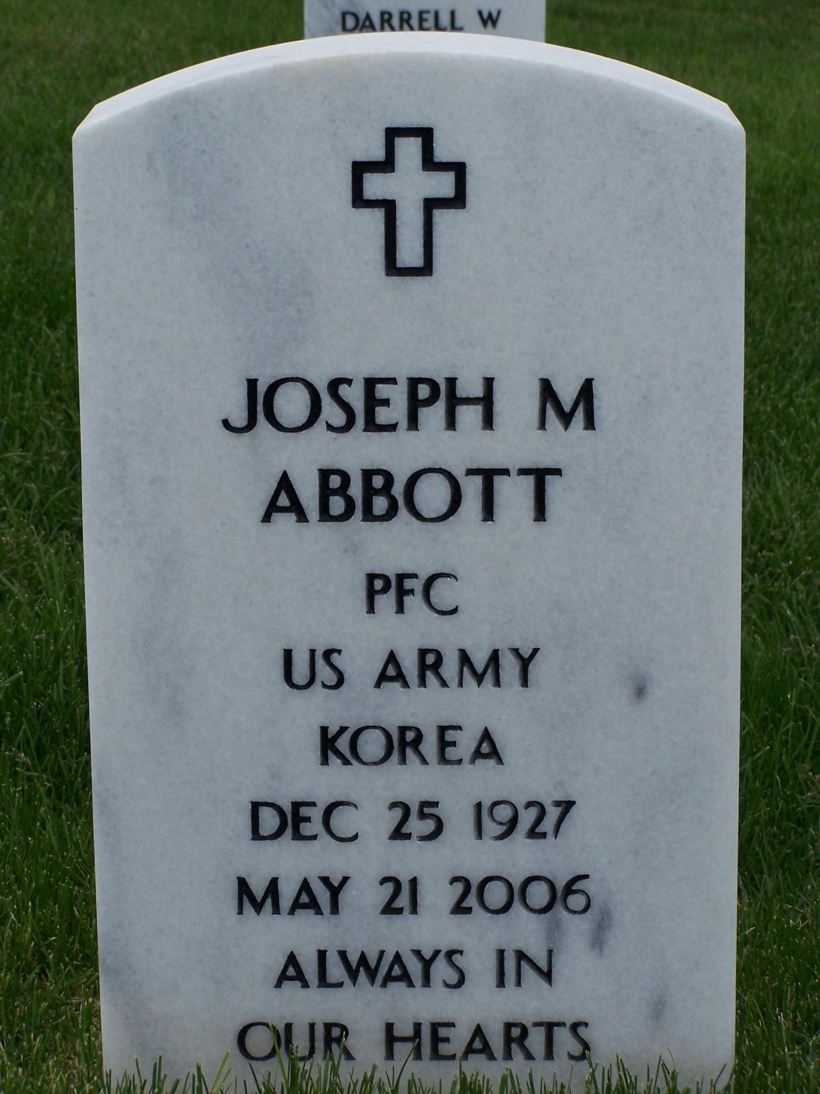 PFC Joseph Michael Abbott